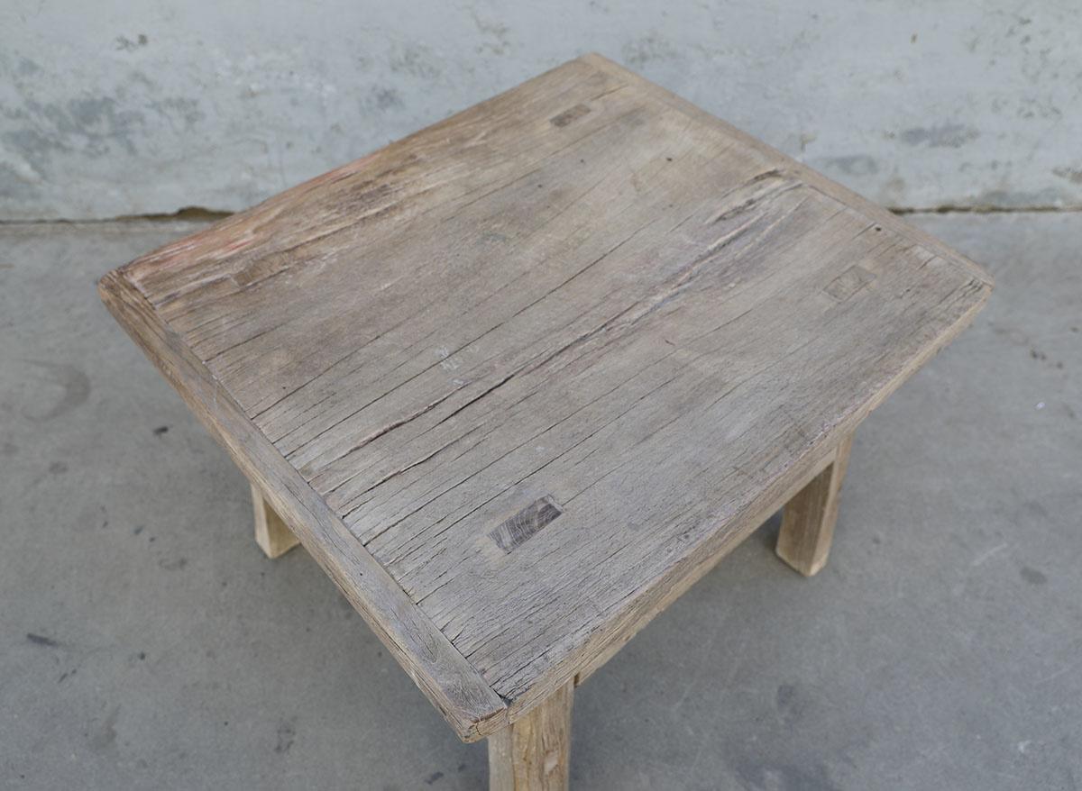 Maisons Origines Raw wood coffee table - 70X60XH50cm - recycled Elm wood