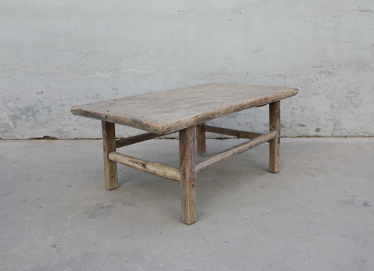 Maisons Origines Raw wood coffee table - 100X60XH43cm - recycled Elm wood