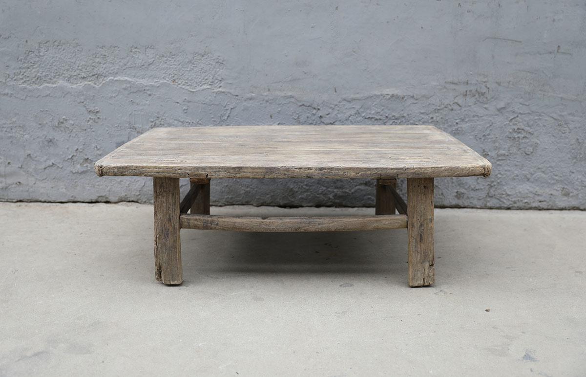 Maisons Origines Raw wood coffee table - 105X68XH36cm - recycled Elm wood