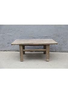 Maisons Origines Raw wood coffee table - 90X50XH40cm - Elm Wood