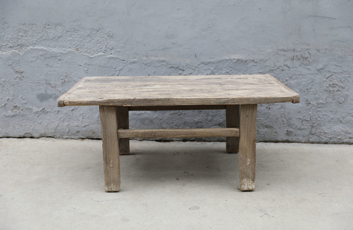 Maisons Origines Raw wood coffee table - 90X50XH40cm - recycled Elm wood