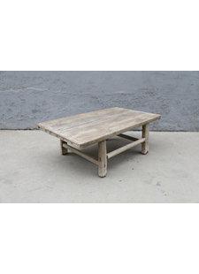 Maisons Origines Table basse vintage / bois brut - 93X56XH31cm -  bois d'orme