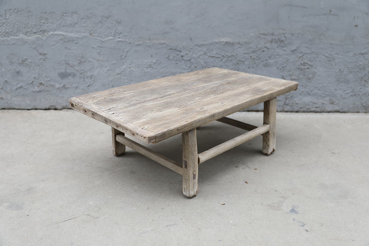 Maisons Origines Raw wood coffee table - 93X56XH31cm - recycled Elm wood