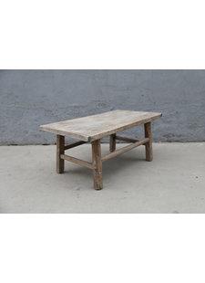 Maisons Origines Table basse vintage / bois brut - 92X53XH42cm -  bois d'orme