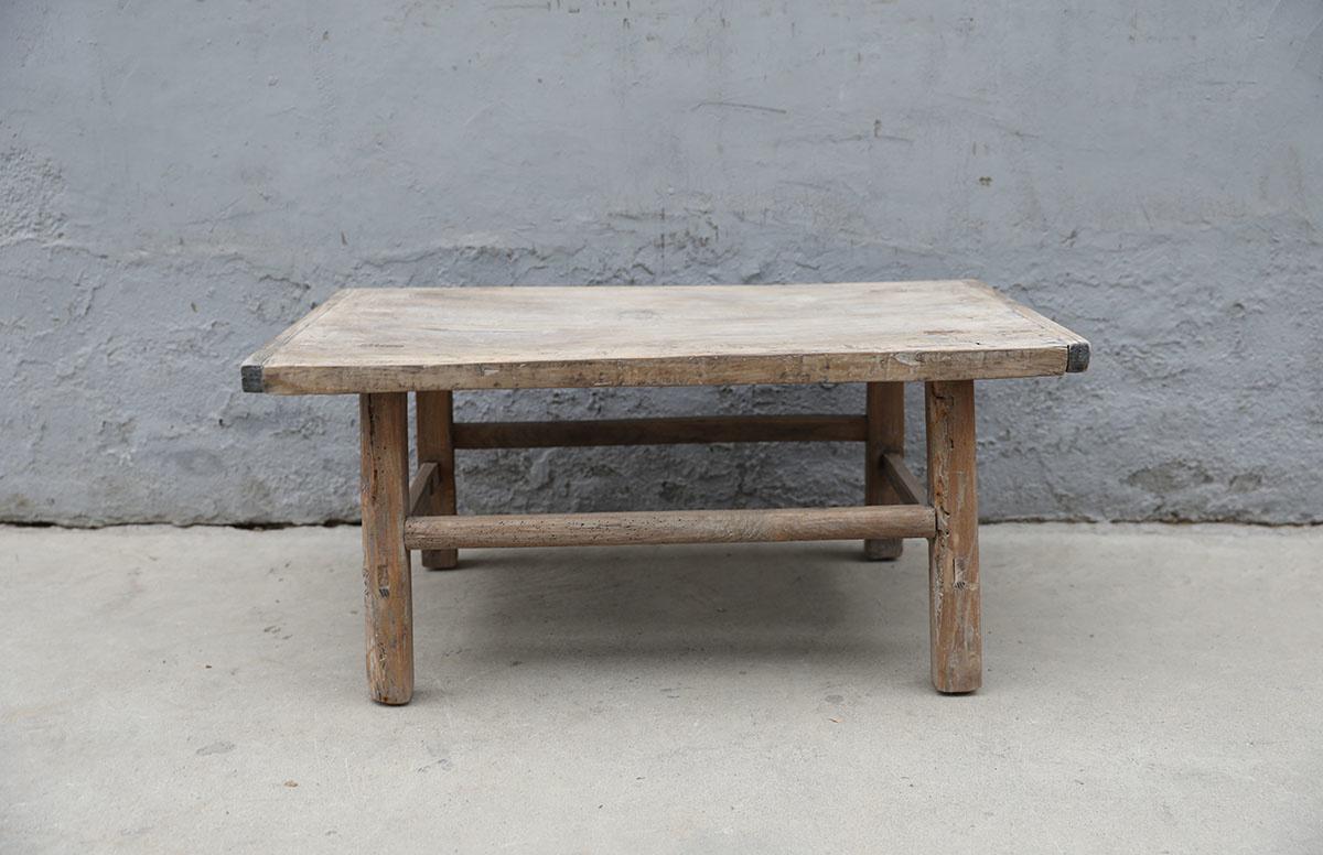 Maisons Origines Raw wood coffee table - 92X53XH42cm - recycled Elm wood