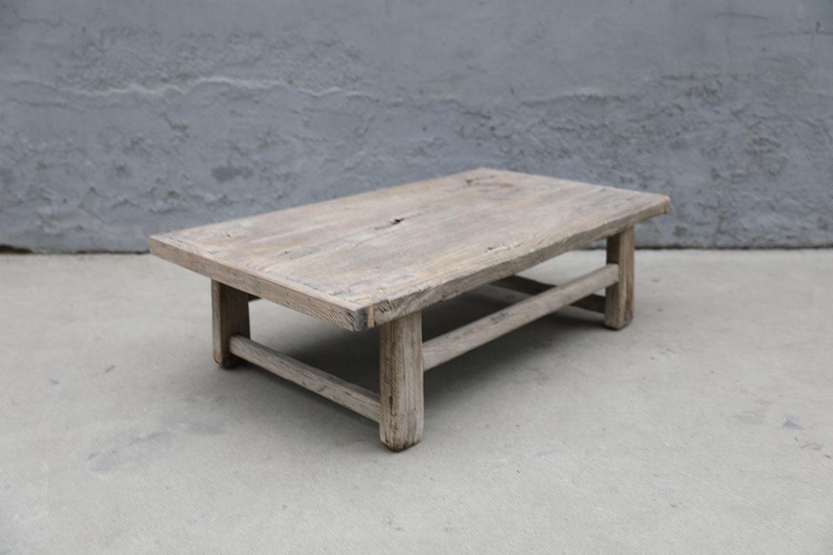 Maisons Origines Raw wood coffee table - 97X55XH28cm - recycled Elm wood