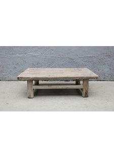Maisons Origines Table basse vintage / bois brut - 97X55XH28cm -  bois d'orme