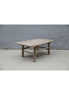 Maisons Origines Table basse vintage / bois brut - 97X59XH43cm - noyer brut