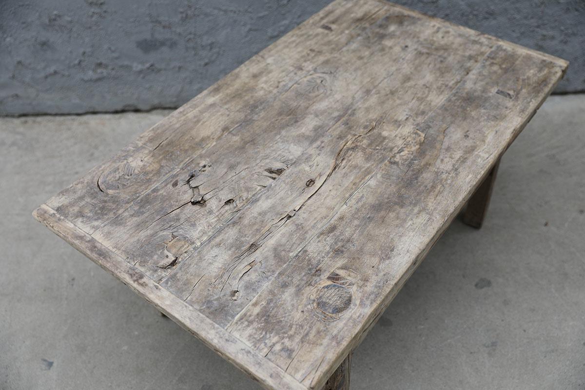 Maisons Origines Raw wood coffee table - 97X59XH43cm - recycled Walnut wood