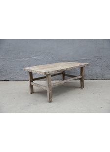 Maisons Origines Table basse vintage / bois brut - 98X53XH43cm - noyer brut
