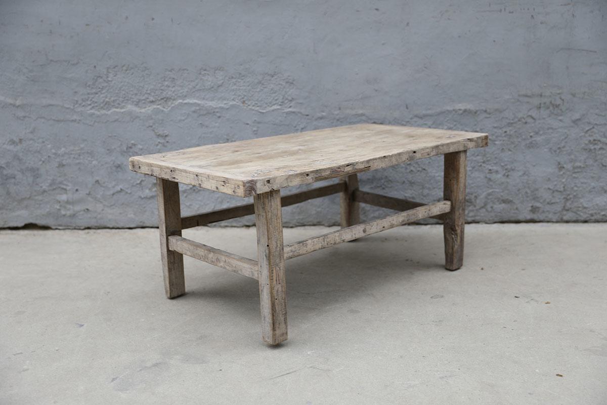 Maisons Origines Raw wood coffee table - 98X53XH43cm - recycled Walnut wood