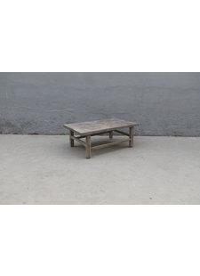 Maisons Origines Table basse vintage / bois brut - 100X59XH36cm - noyer brut