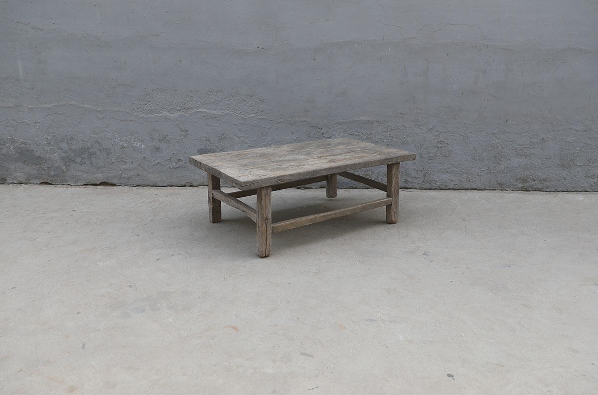 Maisons Origines Raw wood coffee table - 100X59XH36cm - recycled Walnut wood