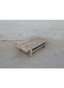 Maisons Origines Table basse vintage / bois brut - 98X56XH26cm -  bois d'orme
