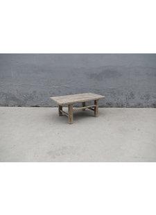 Maisons Origines Table basse vintage / bois brut - 91X50XH38cm -  bois d'orme