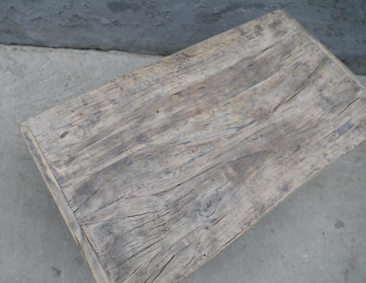 Maisons Origines Raw wood coffee table - 91X50XH38cm - recycled Elm wood
