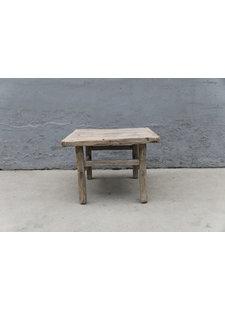 Maisons Origines Table basse vintage / bois brut - 66X60XH48cm -  bois d'orme