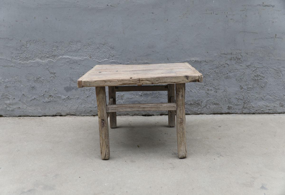 Maisons Origines Raw wood coffee table - 66X60XH48cm - recycled Elm wood