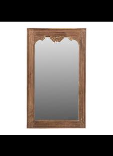 Petite Lily Interiors Miroir indien en bois - 138x81x4cm - Piece Unique