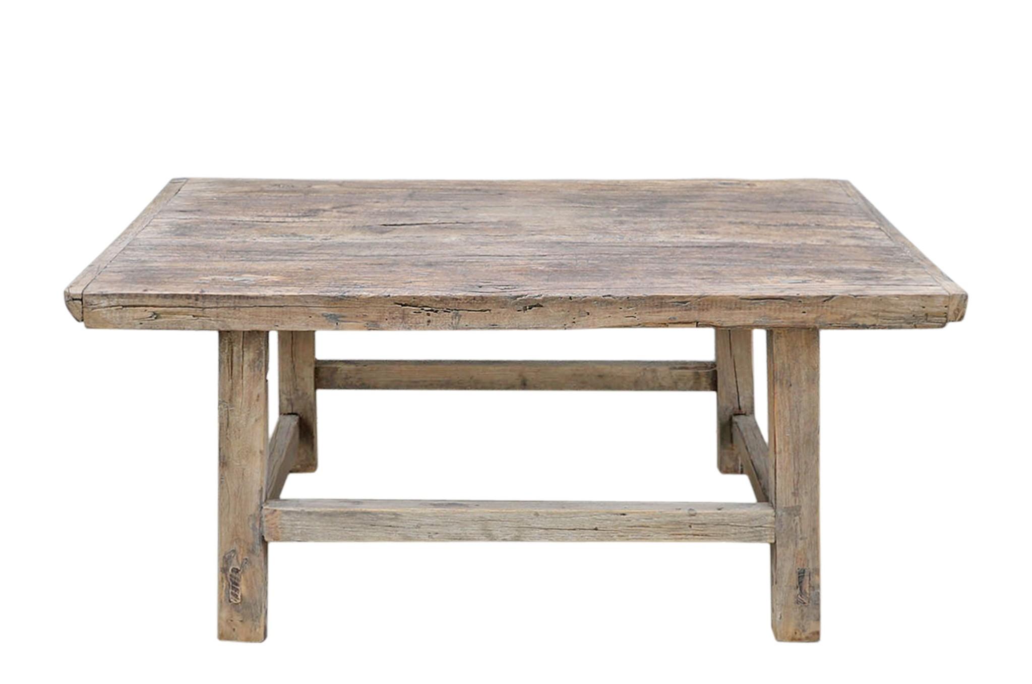 Maisons Origines Raw wood coffee table - 92x57xH42cm - recycled Elm wood