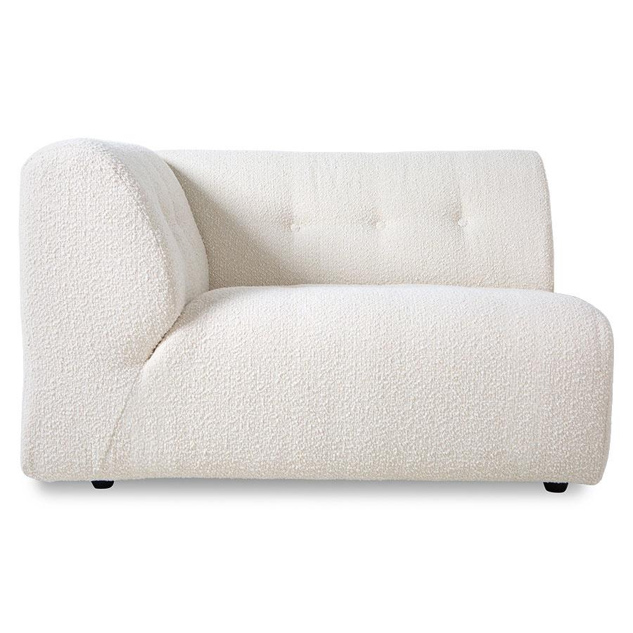 HK Living Element left 1,5-seat, boucle, cream, vint couch