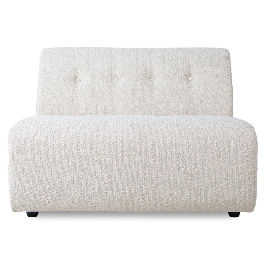 HK Living Element 1,5-seat, boucle, cream, vint couch
