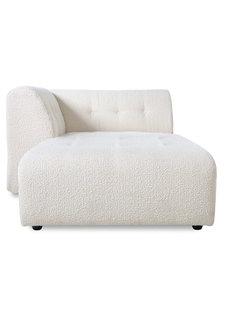 HK Living Canapé élément d'angle gauche lounge - boucle - crème