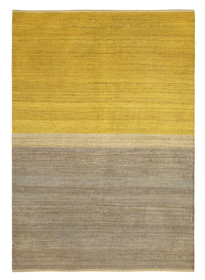 Brita Sweden Carpets Hemp Field - Yellow / Grey - 170x250cm - Brita Sweden