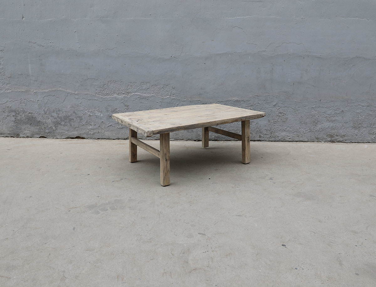 Maisons Origines Raw wood coffee table - 109X71XH43cm - recycled Walnut wood