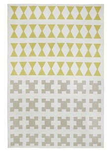 Brita Sweden Vinyl carpet 'Paris' - Yellow / Grey - 170x250cm - Brita Sweden