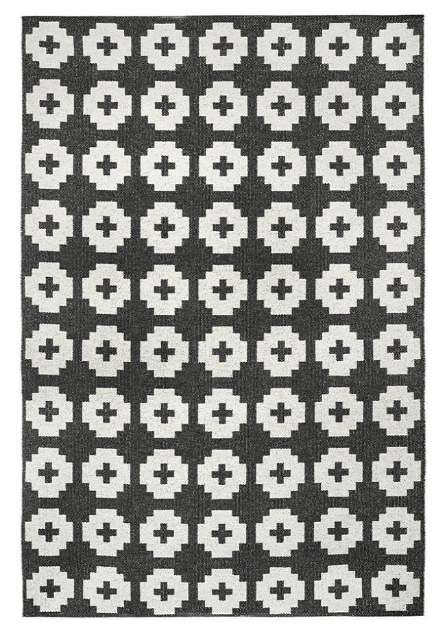 Brita Sweden Alfombra de Vinilo 'Flor' - Negro - 170x250 cm - Brita Sweden