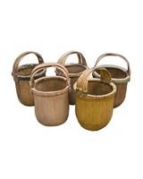 Maisons Origines Baskets vintage in rattan - 40x40cm - Unique item
