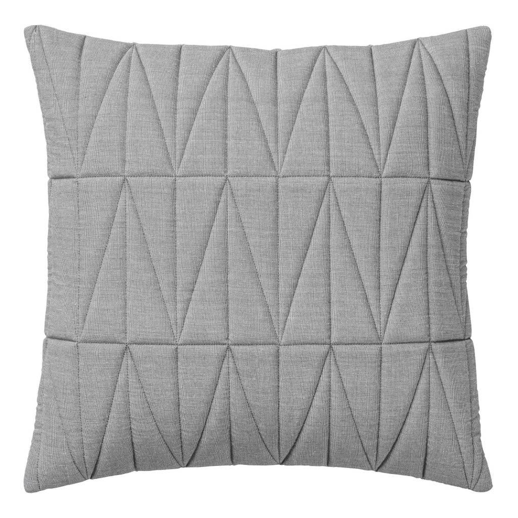 Bloomingville Cojín Quilt - Gris - 45x45 cm - Bloomingville