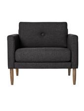 Bloomingville Scandinavian armchair 'Calm' - dark gray - Bloomingville