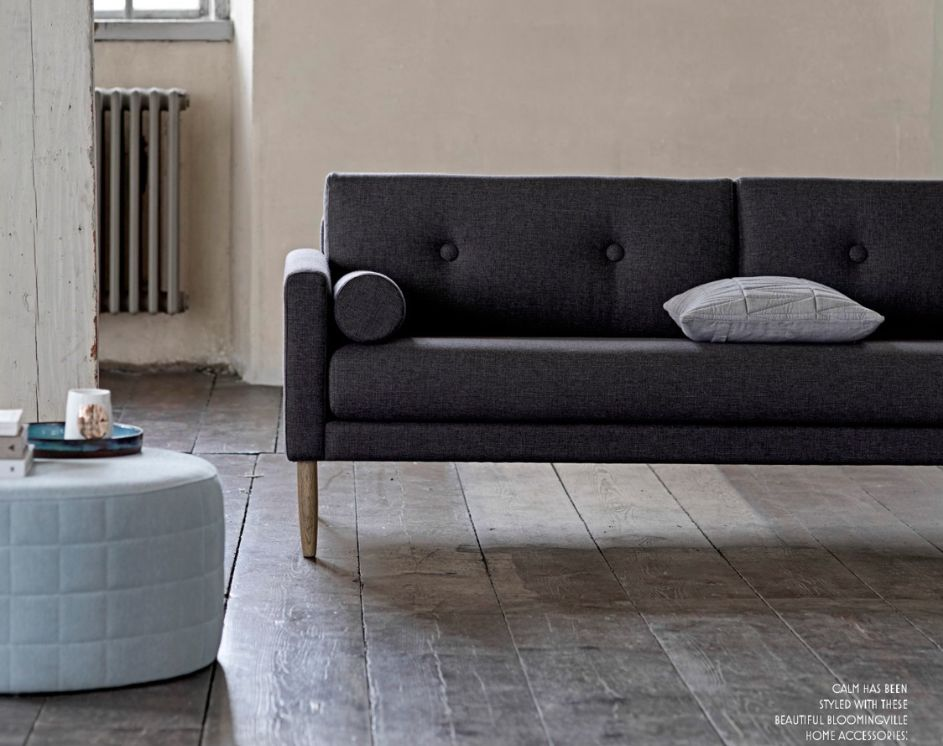 Bloomingville Scandinavian sofa 'Calm' - dark gray - Bloomingville
