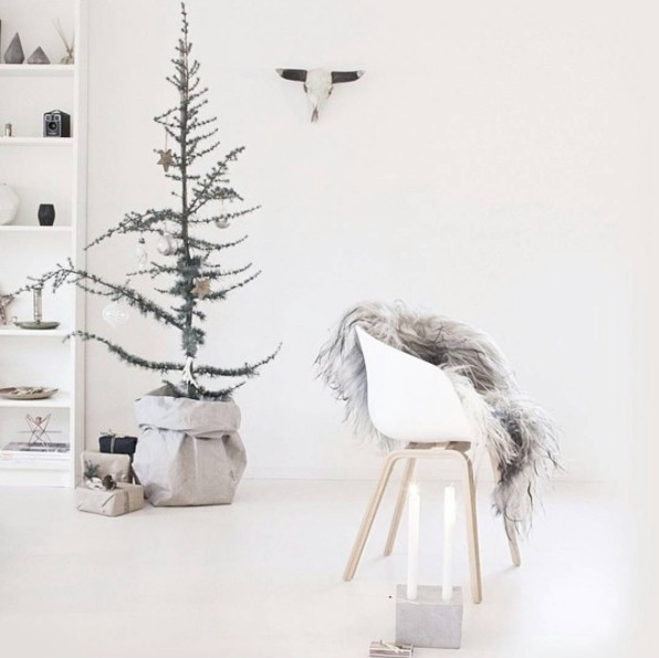 Inspiration de Noël dans un style scandinave ethnique