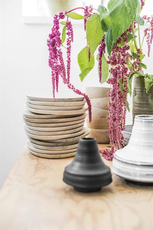 HK Living Set de 2 platos de Madera Natural - ∅20/24 cm - HK Living