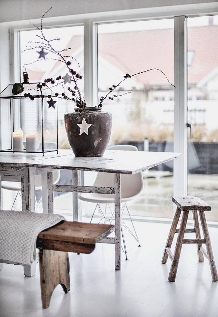 Salle a manger scandinave ethnique vu sur Pinterest