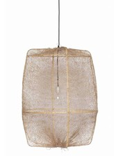 Ay Illuminate ONA Z2 bamboo pendant lamp with Tea Sisal cover - Ø77cm - brown - Ay illuminate