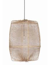 Ay Illuminate ONA Z2 Suspensión en bambú y tea sisal - Ø77cm - marrón - Ay Illuminate