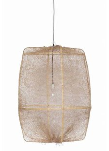 Ay Illuminate ONA Z2 bamboo pendant lamp with Tea Sisal cover - Ø67xh96cm - brown - Ay illuminate