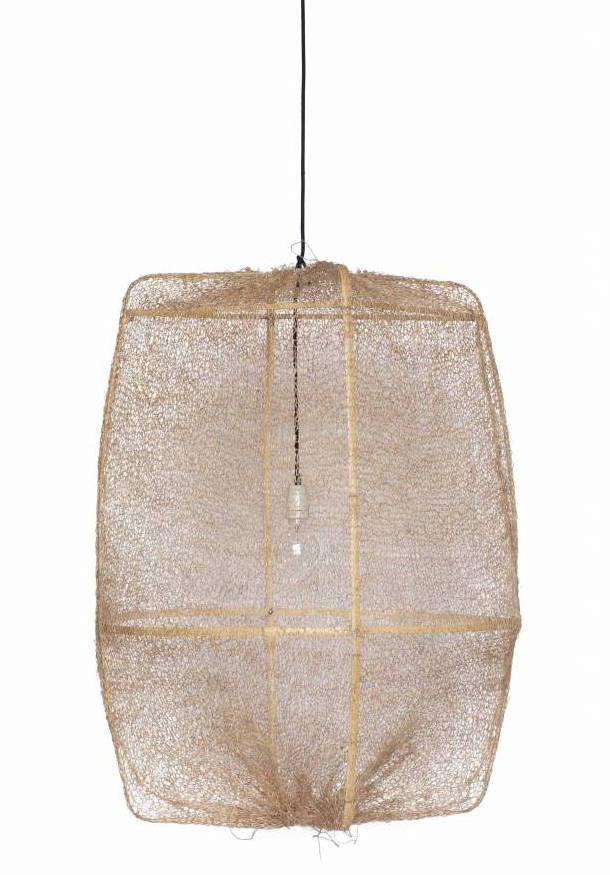 Ay Illuminate ONA Z2 lámpara colgante de bambú y tea sisal - Ø77cm - marrón - Ay Illuminate