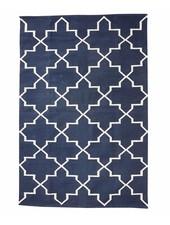 Tapis Scandinave en coton - Bleu Naturel - 120x180cm - Hubsch Interior