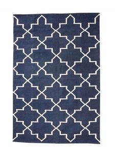 Cotton rug Scandinavian - Natural Blue - 120x180cm - Hübsch interior