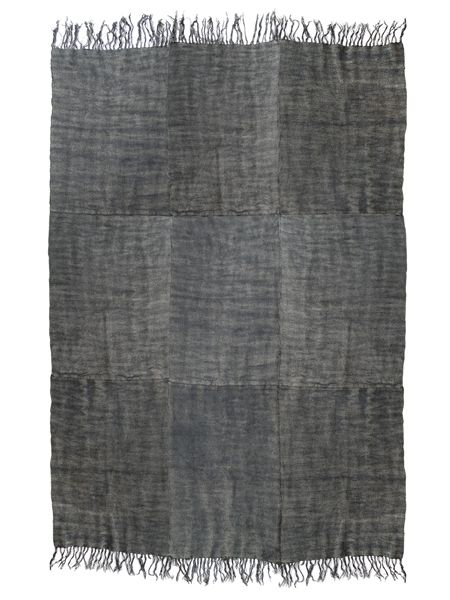HK Living Linen Rug Scandinavian stone washed - dark gray - 230x320cm - HK Living