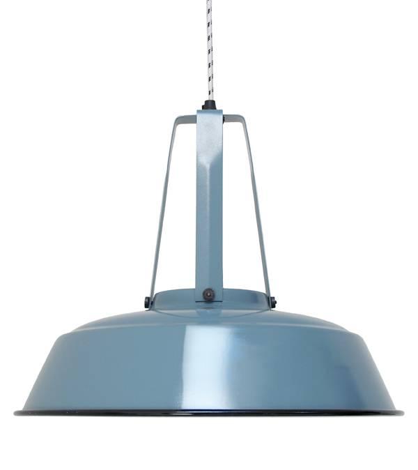 HK Living Industrial lamp made of metal - Ø45cm - Blue - HK Living
