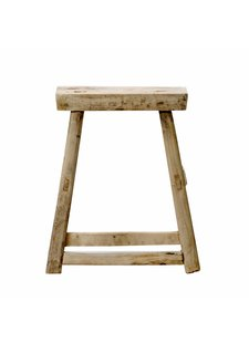 Bloomingville Stool - natural elm wood - 10x34xh46cm - Bloomingville