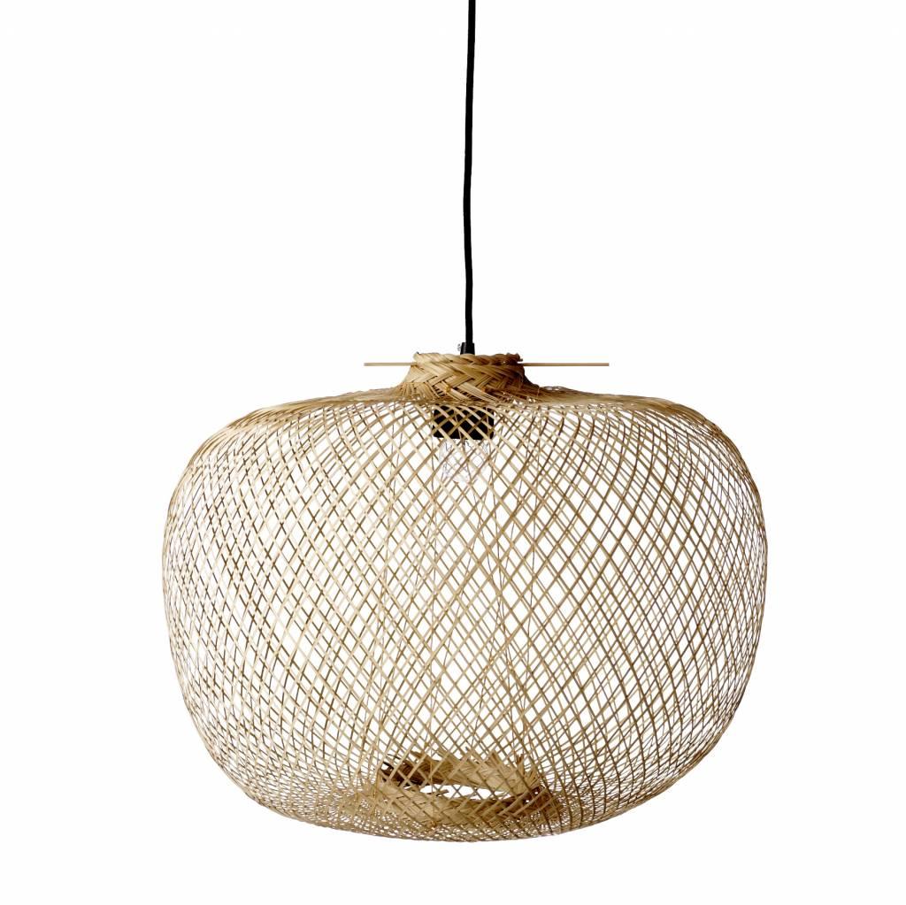 Bloomingville Lampe Suspension Bambou - naturel - Ø42xH30cm - Bloomingville