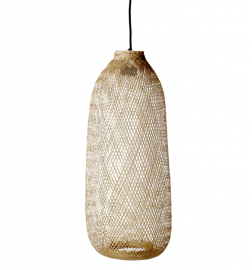 Bloomingville Pendant lamp Bamboo - natural - Ø24xh65cm - Bloomingville