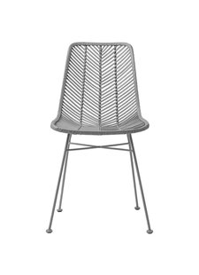 Bloomingville Rattan dining chair Lena - Gray - Bloomingville